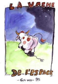 La vache de l'espace : comic couverture