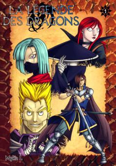La Légende des Dragons : manga couverture