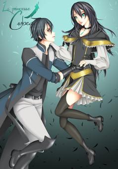La princesse Corbeau : manga cover