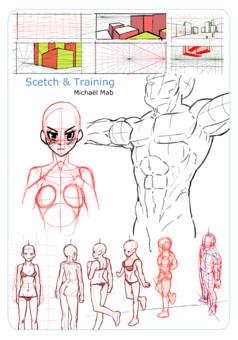 Michaël Mab Sketchs et Trainings : manga cover