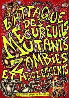 L'attaque des écureuils mutants : comic couverture