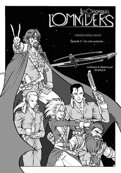 L.C.D.O. Pirates des cieux : comic couverture