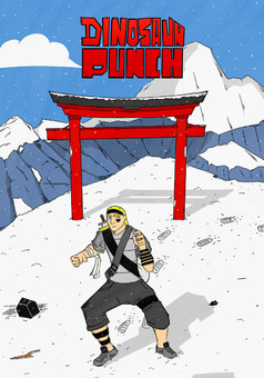 Dinosaur Punch : manga couverture
