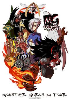Monster girls on tour : manga cover