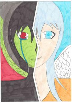 L'ange et le démon : manga couverture