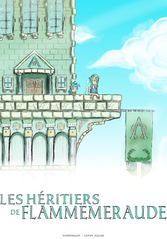 Les Heritiers de Flammemeraude : manga couverture