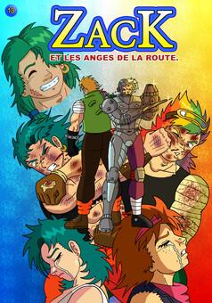 Zack et les anges de la route : manga couverture