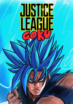 Justice League Goku : manga couverture