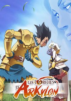 Les Torches d'Arkylon : manga cover