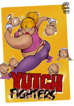 YUTCH Fighters : comic couverture