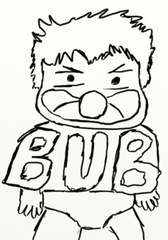 Bub, un bébé ultra bizarre : manga couverture
