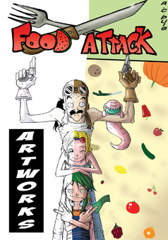Food Attack: Artworks : manga portada