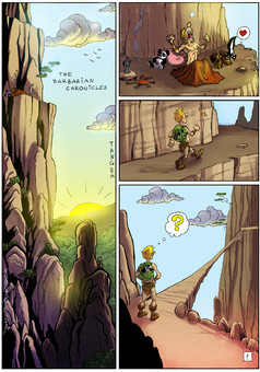 The Barbarian Chronicles : comic portada