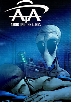 Abducting The Aliens : comic cover
