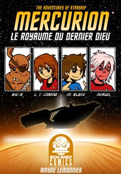 Starship Mercurion : comic couverture