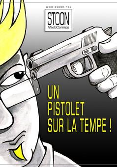 Un Pistolet sur la Tempe : comic couverture